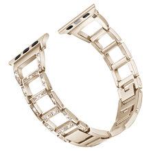 Wonen девушки браслет для наручных часов Apple Watch 38/42/40/44 мм роскошные часы с бриллиантами ремешок на регулируемом наручном браслете Series 5 4 3 2 1 ре...(Китай)
