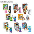Minecraft Figures Toys 8set lot Hot Sale Model Game Juguetes Minecraft Action Minifigures Safe Abs Gifts