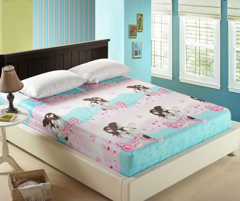 cotton bed sheet sets bedding set bedclothes twin full queen size bedsheet set for lovers flat. Black Bedroom Furniture Sets. Home Design Ideas
