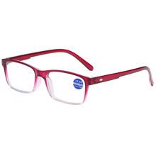 Elbru с защитой от УФ-светильник градиентные очки для чтения Для женщин Для мужчин полный кадр очки при дальнозоркости, устройство для чтения +...(Китай)