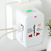 All in One Universal International Plug Adapter 2 USB Port World Travel AC Power Charger Adaptor with AU US UK EU converter Plug