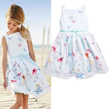 2016 NWT Baby Kids Girls font b Dress b font Princess Flower Sleeveless Summer Gown font