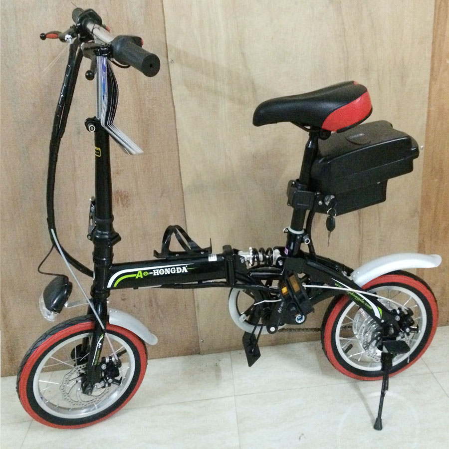 free shipping 14 inch mini folding electric bike 36v 20. Black Bedroom Furniture Sets. Home Design Ideas