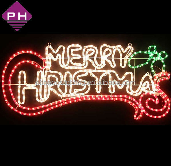 Christmas Lighted Sign.Merry Christmas Lighted Signs