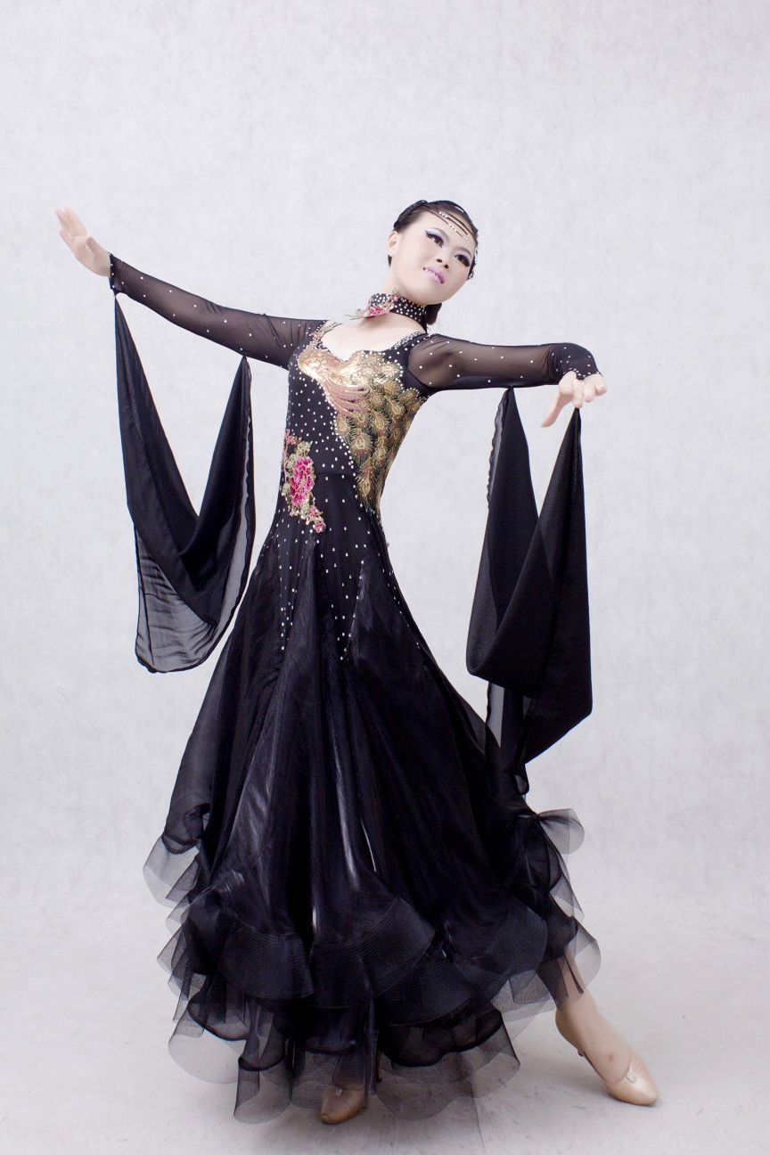 High Quality Women S XXXL Long Sleeves Modern Dance Dress ...