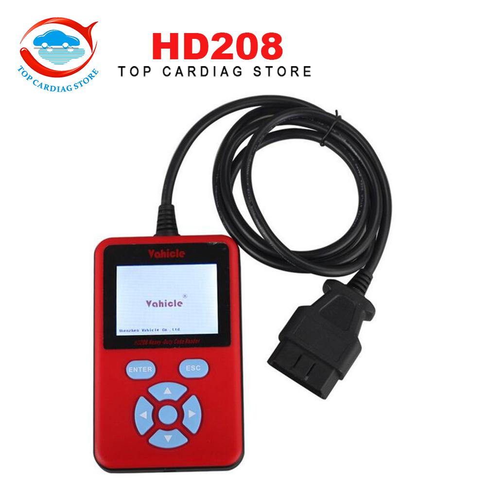 2016 недавно HD208 тяжелых код читателя HD208 грузовик диагностический инструмент совместимость с J1708 и J1939 протоколы обновление онлайн