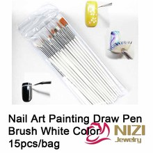 Professional Nail Art Brush For Natural False And 3D Beauty Nail Brush 15Pcs set Nail Art