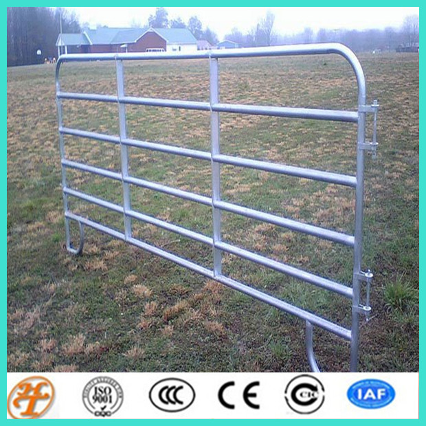 Portable 12 Foot Galvanised 7 Rail Field Gate With Spring