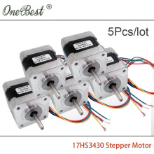 5pcs Nema17 Stepper motor 0.4A (17HS3430)  for XYZ 42 motor 42BYGH 4-lead  17 Nema  DIY 3D printer accessories free shipping