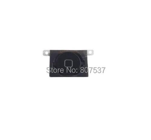 Новый черный меню кнопки гибкий кабель + ключ зажигания + резиновая накладка тяга для iphone 4S 4GS