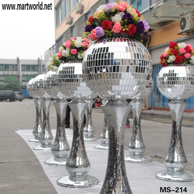 Hot Sale Resin Column Wedding Decorations;Silver