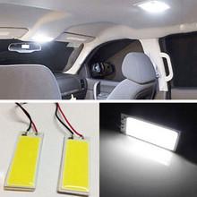 Car-styling 2pcs Xenon HID White 36 COB LED Dome Map Light Bulb Car Interior Panel Lamp 12V 5500K -6000K Free Shipping&Wholesale