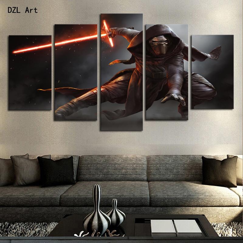 achetez en gros star wars toile art en ligne des grossistes star wars toile art chinois. Black Bedroom Furniture Sets. Home Design Ideas