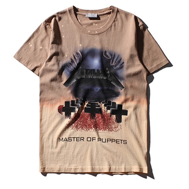 39980367fa3 High quality summer ink stained cemetery printing T-shirt black men hip hop  rock rap