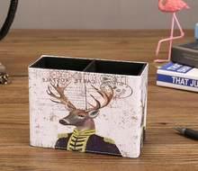 Европейский стиль многофункциональный Ретро Настольный держатель для ручек офисный школьный чехол для хранения Cortex Box Настольный карандаш...(Китай)