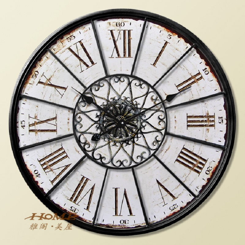 home decor watch wanduhr modern design vintage saat relojes pared decoracion wrought iron wall. Black Bedroom Furniture Sets. Home Design Ideas