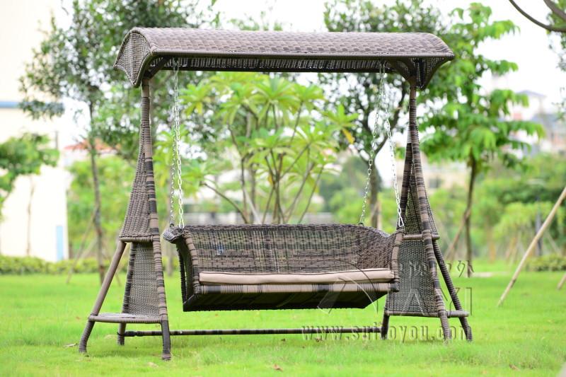 2 Person Wicker Garden Swing Chair Outdoor Hammock Patio Leisure