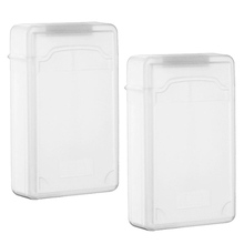 GTFS Hot 2 packs Clear 3.5 INCH SATA HDD Hard Drive Storage Case