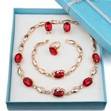 Fashion Trendy nigerian wedding african beads jewelry sets Crystal Earrings for Women dubai jewelry set wedding
