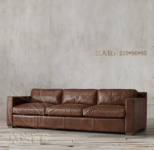 Country Leather Sofa: French American Country Retro Leather Sofas Imported Oil