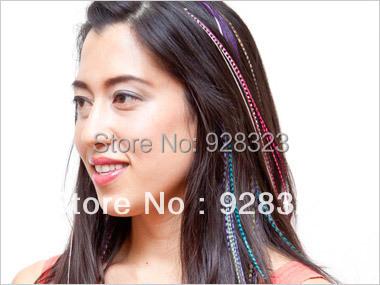 Colourfull дамская гризли наращивание волос с предварительно бонд выдвижения волос Fashional я даю чаевые реального выдвижение волос