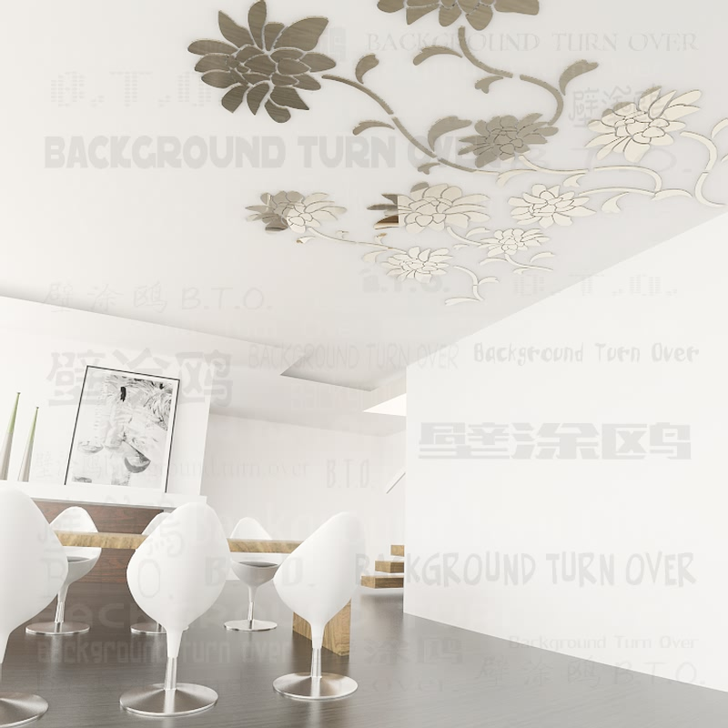 Various colors DIY <font><b>elegant</b></font> flower vine 3d floral wall stickers for living room TV wall sofa wall <font><b>home</b></font> <font><b>decoration</b></font> ML-232