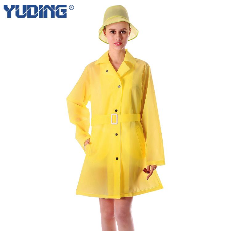 Взрослая самка открытый путешествия пальто дождя корея европа ветровка с дождь крышка и длинные участки водонепроницаемый пончо плащ женщины