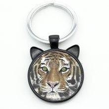 Лидер продаж 2016, дикое животное, тигр, брелок, кольцо, защита, сохранить дикую природу, тигр, стекло, сплав подвеска брелок для мужчин и женщин...(Китай)