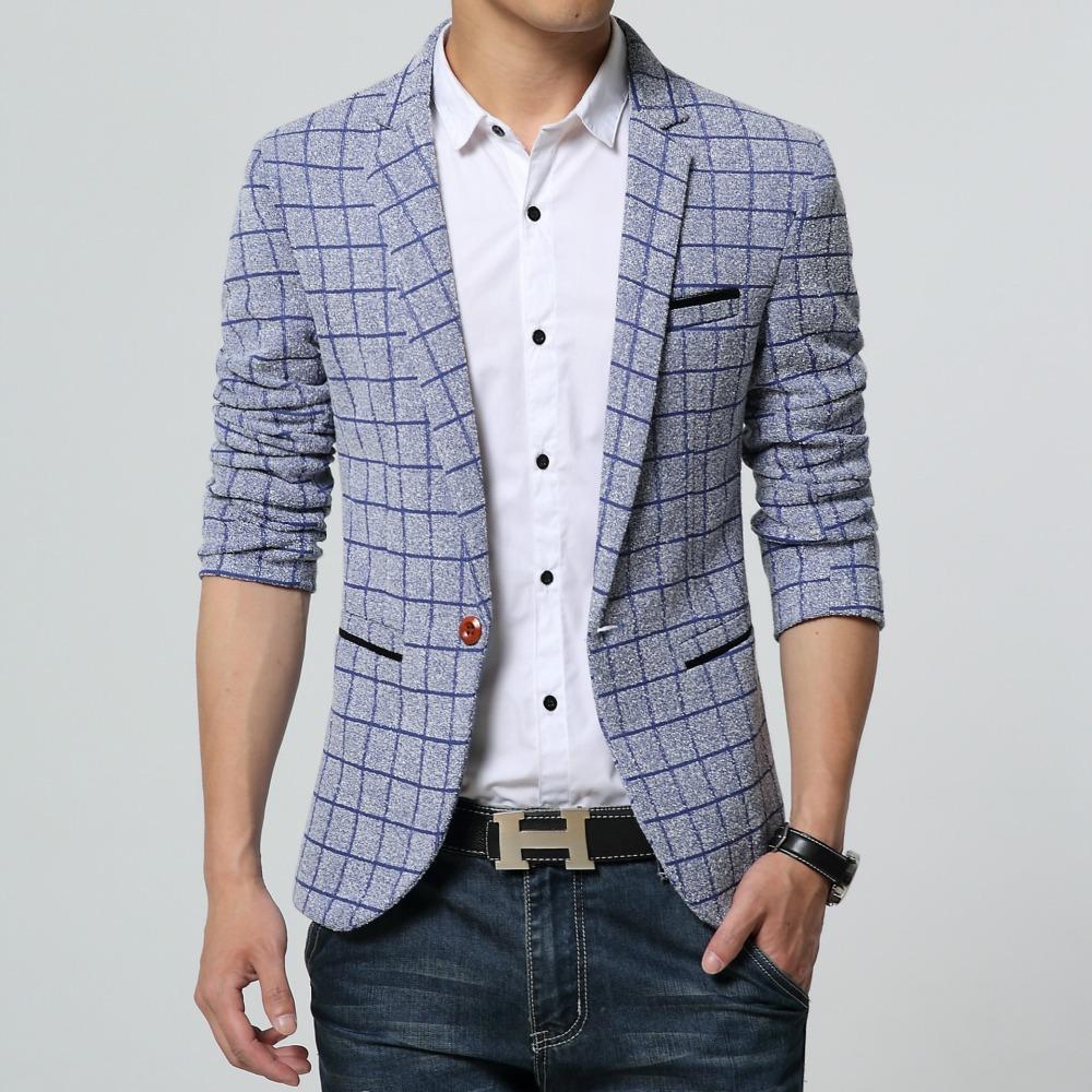 69cee0910a5d5 High-end-Men-Blazer-New-Fashion-One-Button-