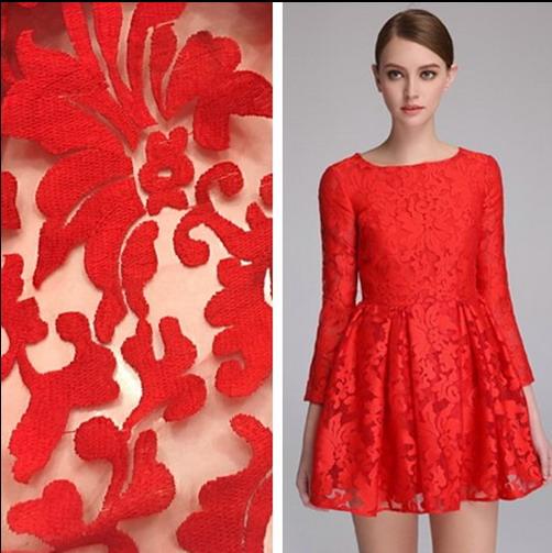 Compra tela de brocado rojo online al por mayor de China