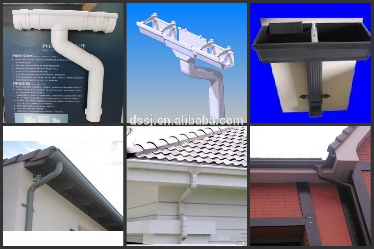Pvc Eaves Gutters And Fittings For Rainwater Drainage