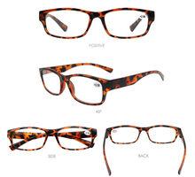 Для мужчин чтения квадратная оправа для очков очки Для женщин женские дальнозоркостью диоптрий мужской прицел 1 125 150 175 200 225 250 275 300 350 400(Китай)