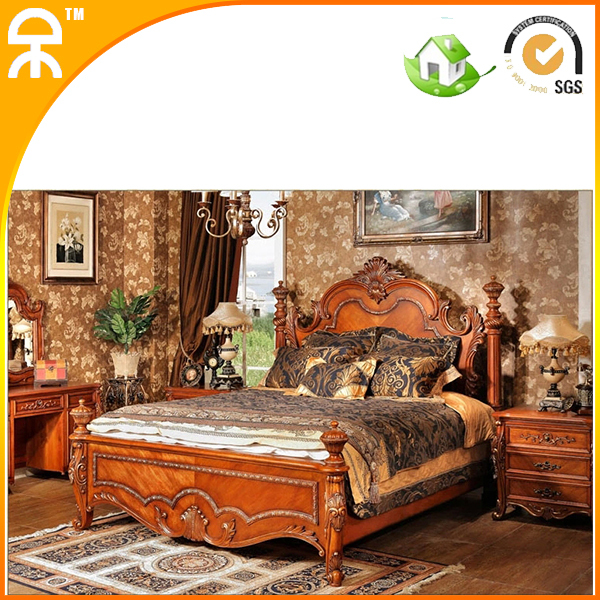 Real Wood Bedroom Sets Bedroom Curtains And Matching Bedding Bedroom Under Eaves Master Bedroom Bed: 1 Bed +2 Night Stand Importing Solid Wood Bedroom
