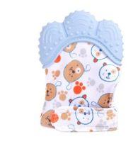 Детские Силиконовые митенки для прорезывания зубов, перчатки для прорезывания зубов со звуком, жевательные рукавицы для новорожденных, Про...(Китай)