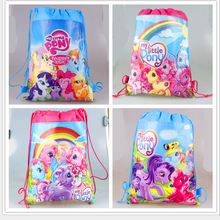 2016school bags kids cartoon Pony drawstring backpack& bag For kids bag back to school mochila infantil-4