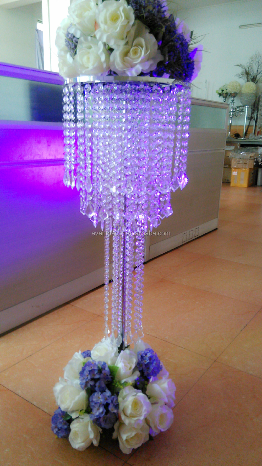 large crystal chandelier table top centerpieces for weddings table decor view crystal. Black Bedroom Furniture Sets. Home Design Ideas