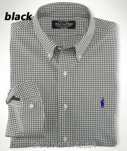 Мужчины шотландка рубашки мужские длинный рукав свободного покроя бизнес официальный рубашка 100% хлопок платье рубашка вилочная часть