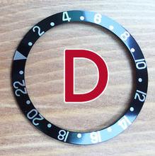 37,4 мм/30,7 мм светящийся алюминиевый Pepsi БЕЗЕЛЬ для наручных часов вставная петля для RLX SUB GMT мастер часы 16800,16610, 114060 части корпуса(Китай)