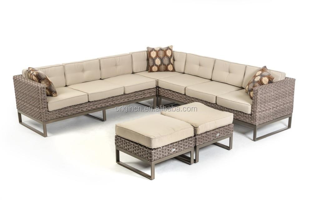 Vigo Style Sectional Modern Sofa Set With Ottomans Wide