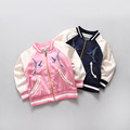 2016 New Spring Fall Baby Girls Baseball Uniform Jackets Korean Kids Embroidery Outerwear Coats Fashion Jacket