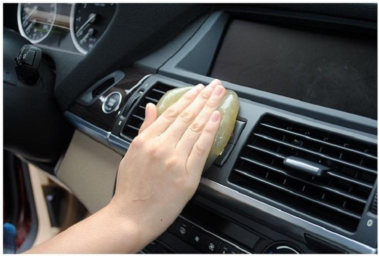 Чистка губка продукты авто универсальный кибер супер чистый клей микрофибры пыль инструменты грязи гель продукты автомобильные аксессуары BC0012
