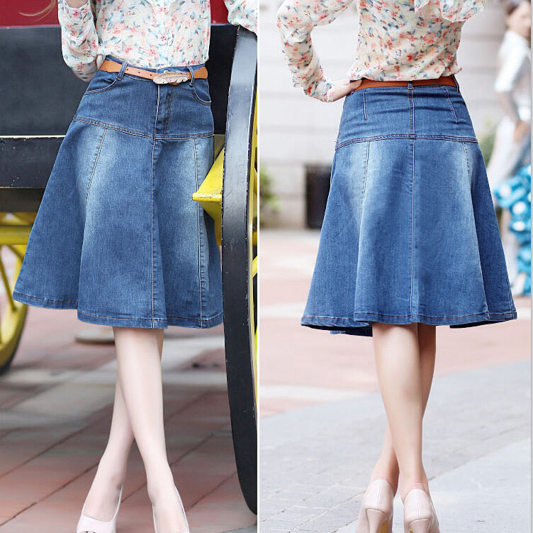 69315de6c9 Denim Skirts For Women Knee Length - Redskirtz