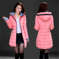 2016Winter women Jacket Coat Silm Women Down Coat Middle Long Thicken Down Jacket Women Hooded Large