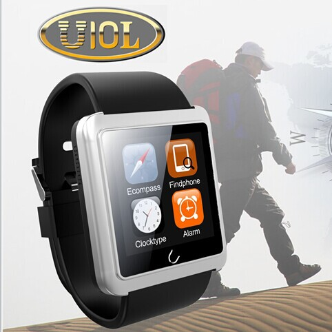U10L Smart Watch Support < ios > Wrist waterproof for iPhone 6 5 5S 4 4S Samsung S5 S4 Note 4 HTC Android Phone Updated U8/ U10