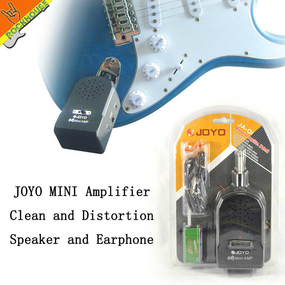 joyo mini guitar amp mini electric guitar clean and distortion effects portable amplifier free. Black Bedroom Furniture Sets. Home Design Ideas