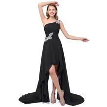 Распродажа 2020, женское платье, летнее, стильное, на одно плечо, с аппликацией, вечерние платья недорого, шифоновое вечернее платье, Vestido Mujer(China)