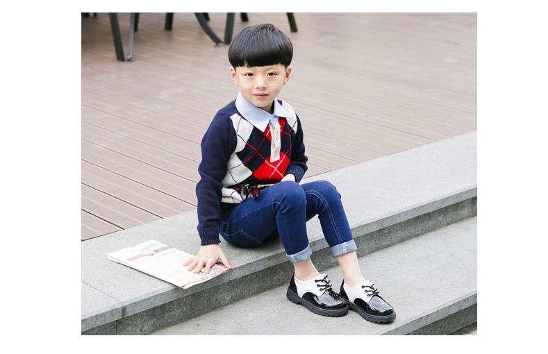 f1016f819b3d Toddler girl boots children s kids patent leather boots boys single  princess spring autumn chaussure led enfant 362 - us301
