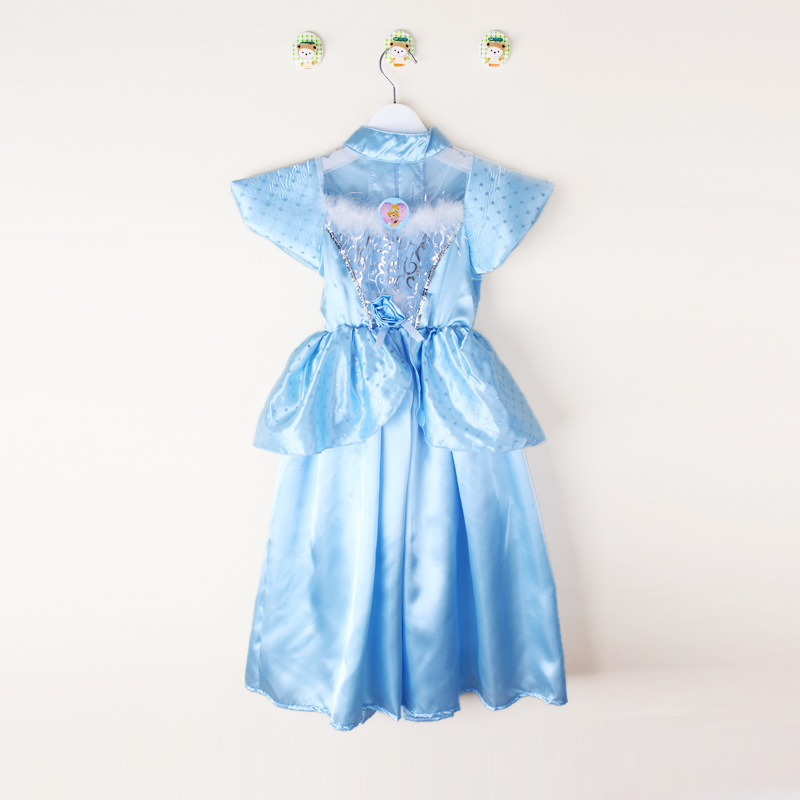 Cinderella 2015 Costumes Girls Dresses Shoes Jewelry: 2015 Girls Cinderella Dresses Chistmas Snow White Princess