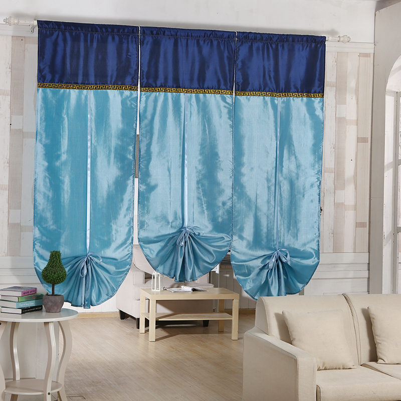 High Quality Bohemian style roman curtains kitchen window curtains roman blinds embroidered curtains