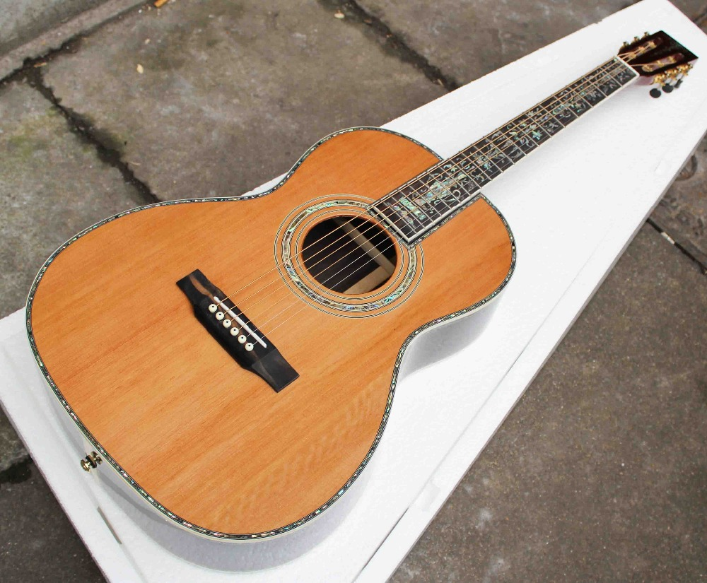 buy 000 style 39 acoustic guitars spruce top china guittarras free shipping. Black Bedroom Furniture Sets. Home Design Ideas
